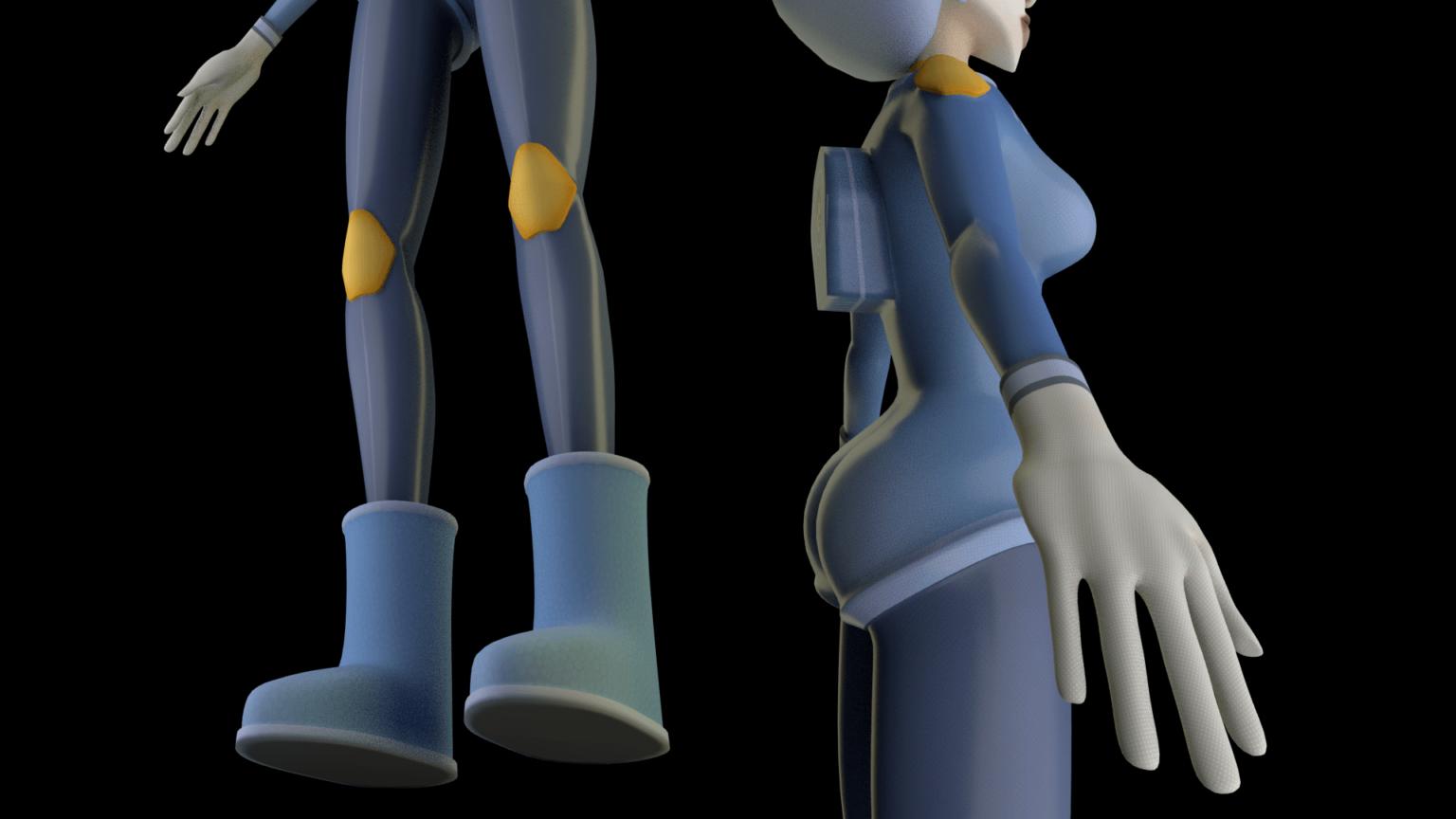 Character model making, astronaut p.2